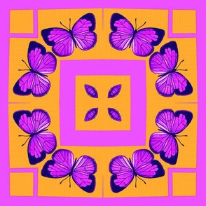 Neon Butterflies Block