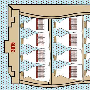 2015 Tea Towel Spice Rack Calendar Cut and Sew