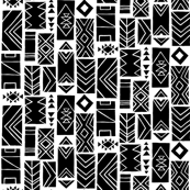 Pattern Blocks SMALL Black/White