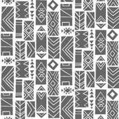 Pattern Blocks SMALL Gray/White