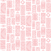 Pattern Block SMALL Pink/White