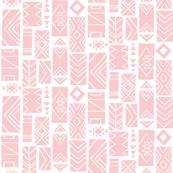 Pattern Block SMALL Pink/White