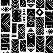 Pattern Blocks LARGE Black/White