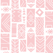 Pattern Blocks LARGE Pink/White