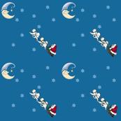 Samoyeds  & Santa Sled