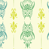Typographic Owl Brocade