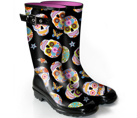 sugar skulls - large black
