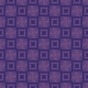 Dark Violet and Navy Iris Folding Squares Tiled