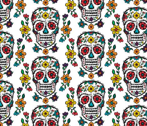 sugar skull tattoo wht lge