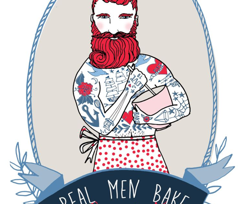 Real Men Bake 2015 tea towel calendar (Navy)