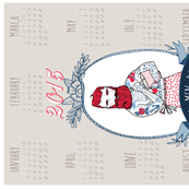 Real Men Bake 2015 tea towel calendar (Linen)