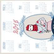 Real Men Bake 2015 tea towel calendar (White)