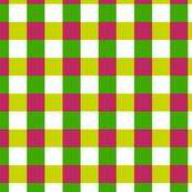 Pink, Green and Yellow Checkered Pattern Design