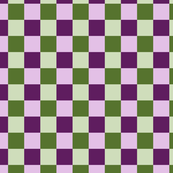 Purple and Green Checkered Pattern Design