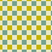 Yellow-Green and Slate Blue Checkered Pattern