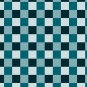 Shades of Blue Checkered Pattern Design