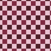 Pink, Burgundy and Mauve Checkered Pattern Design