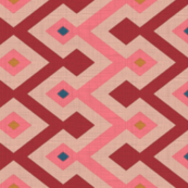 Kilim in pink/oxblood