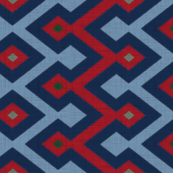 Kilim in red/navy