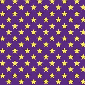 Large Stars on Purple Background