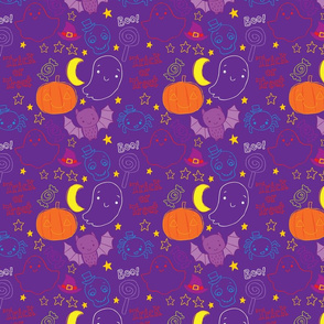cute children's halloween pattern