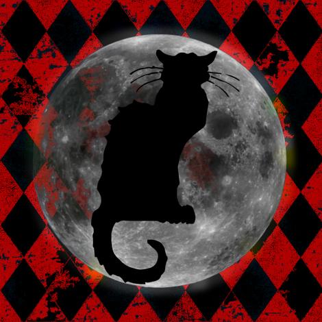 Le Chat Noir Harlequin Moon, Black & Orange Halloween