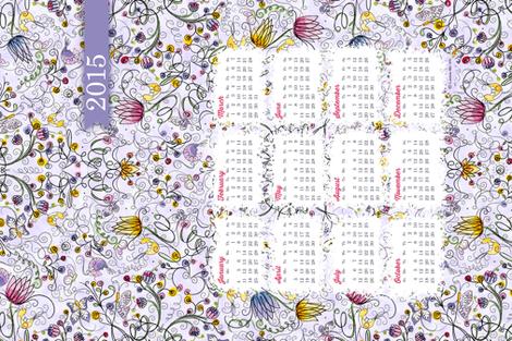 2015 Calendar: Secret Garden in Lavendar -  © Lucinda Wei