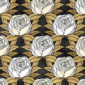 White Gold Roses