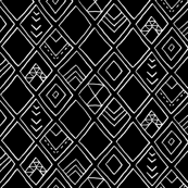 Diamond Decor Black/White