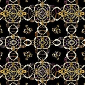 Fractal Chain Mesh with Illusion of Metal