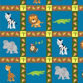 Safari Faux Quilt