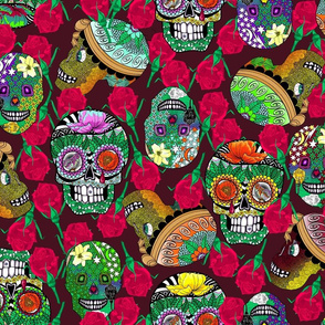 Calaveras on_Deep_Red.