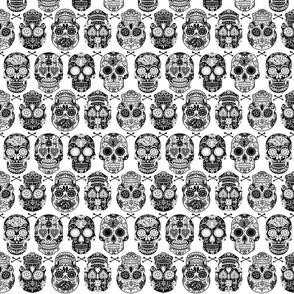 Sugar Skulls - White