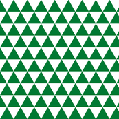 White Green Triangles