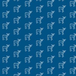 Dear Deer in Petrol Blue