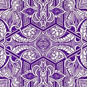 Big Bad Purple Paisley Patch
