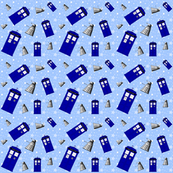 Police Box Attack, Blue Stars - Large-6