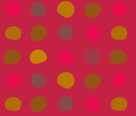 Large spot -fuschia dot
