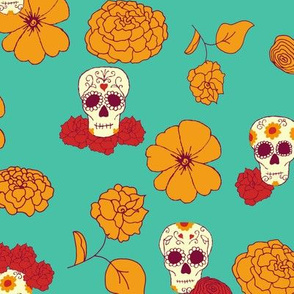 Calaveras, Marigolds, and Roses