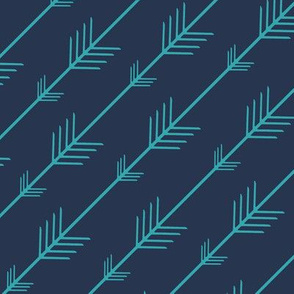 Flying arrows in Navy and Aqua