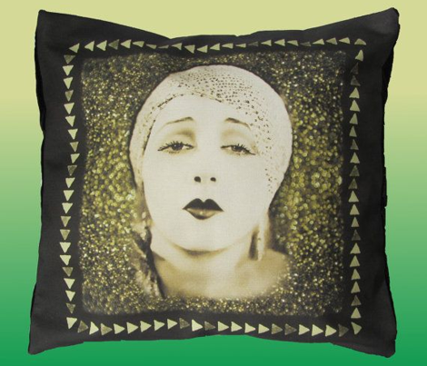 Golden Lady Cushion Panel