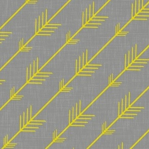 Arrows in Yellow and Gray Linen