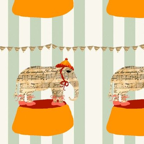 dancing elephant with bunting