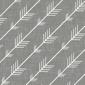 Flying Arrows in Gray Linen