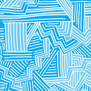 Zig Zag Riot (blues and white)