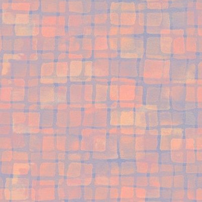 double tile in orange, gold and blue