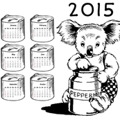 Blinky Bill Tea Towel Calendar