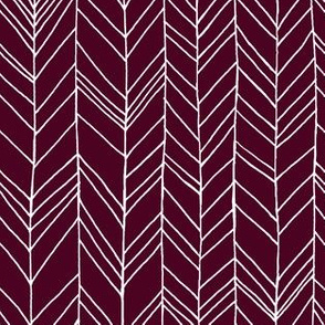 Featherland Burgundy/White