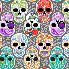 Calaveras_celebración del Color y Gris_Lg