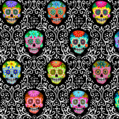 Bright Calaveras Damask